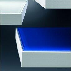 Aliumininis rėmelis su briaunele klijuojamam stiklui, 20,6x45 mm