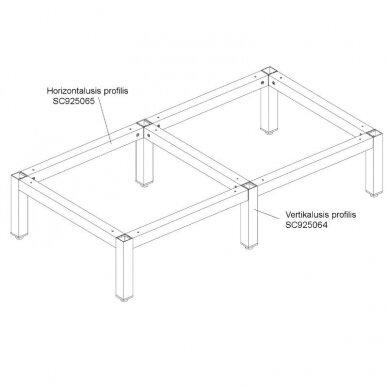 Aliuminio profiliai stelažams 3