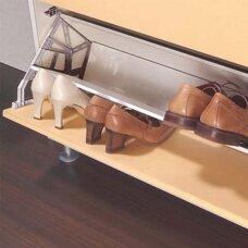 Atlenkiama batų lentyna