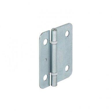 Centrinis lankstas stumdomoms durims, 50x42 mm, cinkuotas