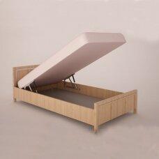Dujinių lovos pakėlimo mechanizmų su fiksatoriumi komplektas