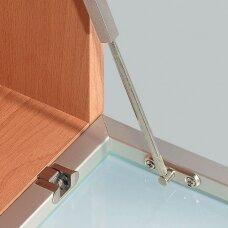 Ekscentriku tvirtinamas baro lankstas, aliuminio rėmeliui
