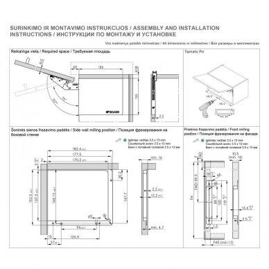 Kinvaro T-SLIM mechanizmų su integruota švelnaus stabdymo sistema komplektas 4