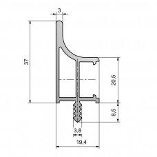 Profilis viršutinėms spintelėms su LED apšvietimu