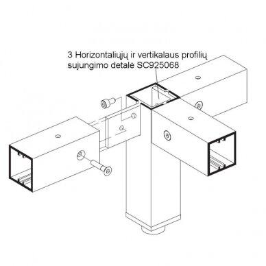 Aliuminio profiliai stelažams 8