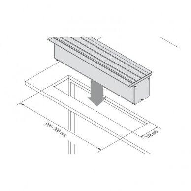 Į stalviršį montuojama daiktų laikymo sistema TARA 6