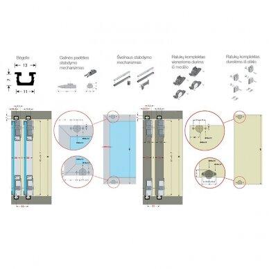 Slenkančių durų sistema PS03 3