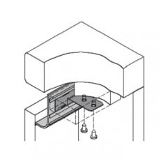 Viršutinio profilio tvirtinimo plokštelė (tvirtinant prie viršaus)